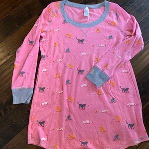 Munki munki cat print sleep shirt size XL